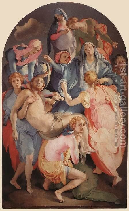 Deposition c. 1528 by (Jacopo Carucci) Pontormo - Reproduction Oil Painting