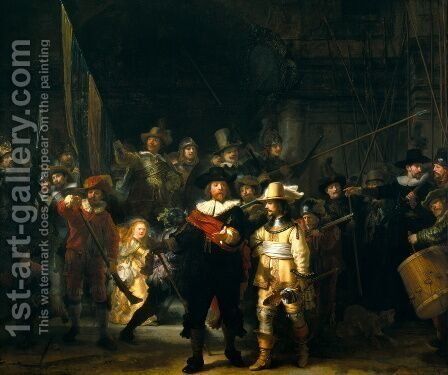 The NightWatch by Rembrandt - Reproduction Oil Painting