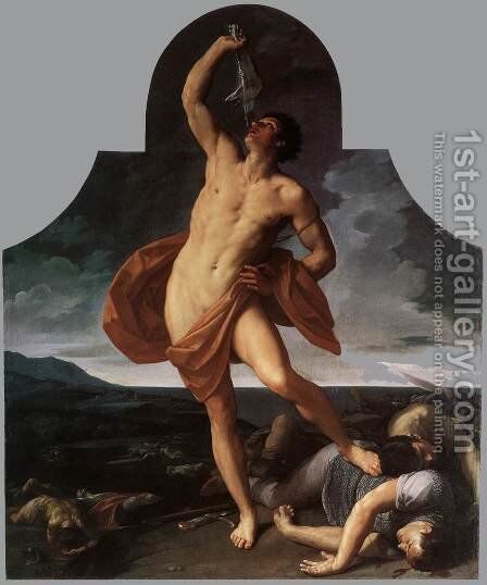 The Triumph of Samson 1611-12 by Guido Reni - Reproduction Oil Painting