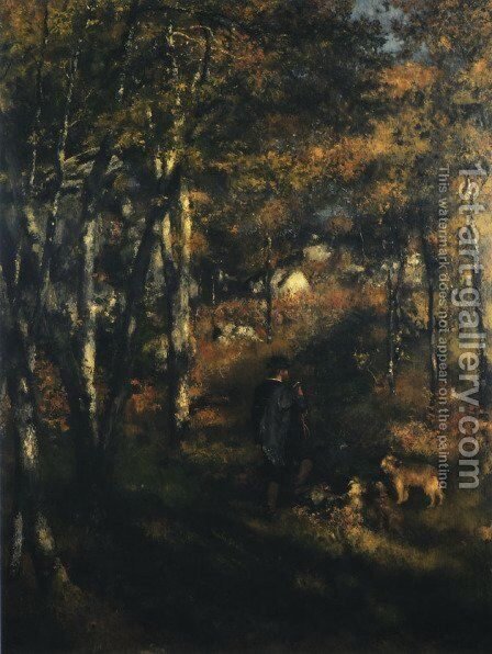 Jules Le Coeur in the Forest of Fontainebleau by Pierre Auguste Renoir - Reproduction Oil Painting