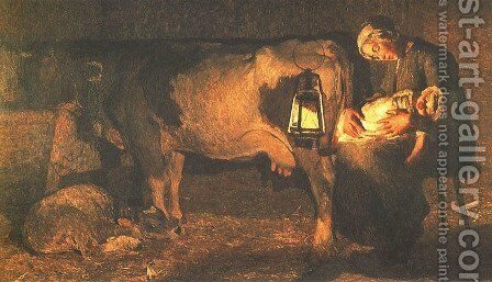 Two Mothers (Le due madri) by Giovanni Segantini - Reproduction Oil Painting