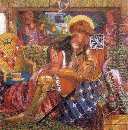 Wedding of St. George and the Princess Sabra by Dante Gabriel Rossetti - Reproduction Oil Painting