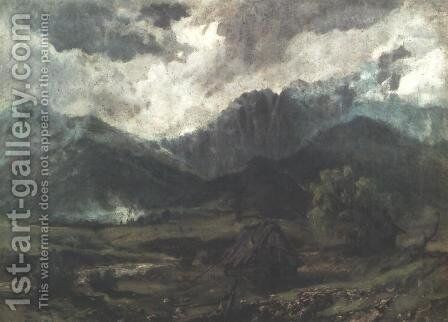 Giewont II by Aleksander Kotsis - Reproduction Oil Painting