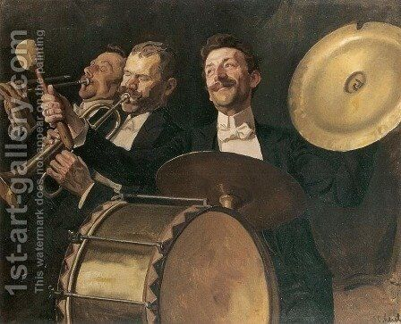 Fanfare - Serenade by Stanislaw Lentz - Reproduction Oil Painting