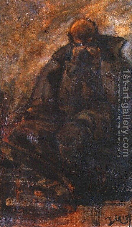 Study of an Old Man by Jacek Malczewski - Reproduction Oil Painting