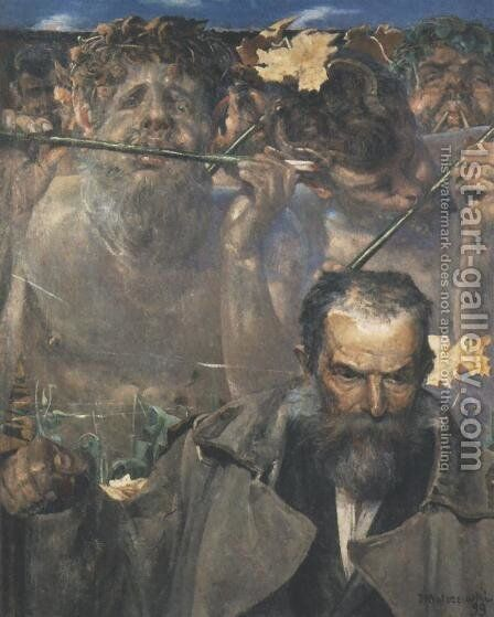 History of the Song. Portrait of Adam Asnyk by Jacek Malczewski - Reproduction Oil Painting