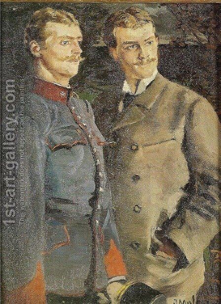 Portrait of Two Young Men by Jacek Malczewski - Reproduction Oil Painting
