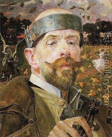 Self-Portrait by Jacek Malczewski - Reproduction Oil Painting