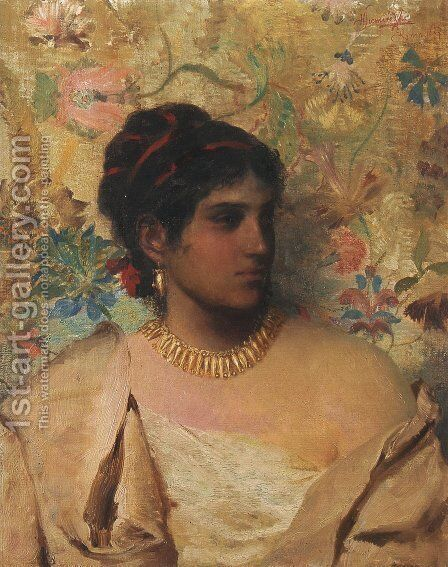 Gypsy Woman by Henryk Hector Siemiradzki - Reproduction Oil Painting