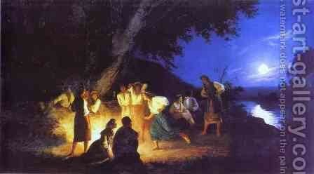 Night on the Eve of Ivan Kupala by Henryk Hector Siemiradzki - Reproduction Oil Painting
