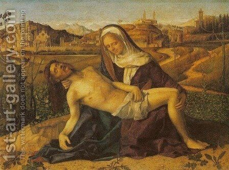 Pieta 3 by Giovanni Bellini - Reproduction Oil Painting
