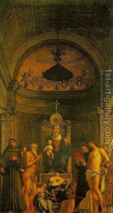 St. Giobbe Altarpiece (Pala di san Giobbe) by Giovanni Bellini - Reproduction Oil Painting