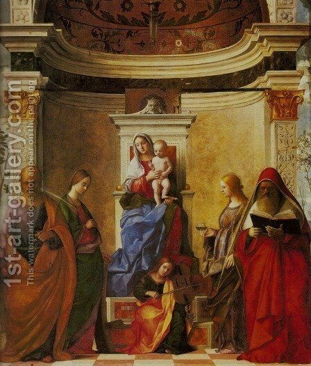 Sacra Conversazione by Giovanni Bellini - Reproduction Oil Painting