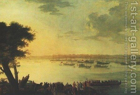 Departure of Catherine the Second from Kaniow in 1787 by Jan Bogumil Plersch - Reproduction Oil Painting