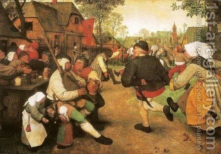 Peasant Dance by Pieter the Elder Bruegel - Reproduction Oil Painting