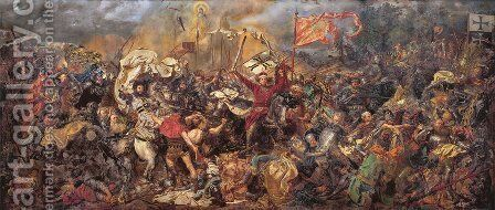 Battle of Grunwald by Jan Matejko - Reproduction Oil Painting