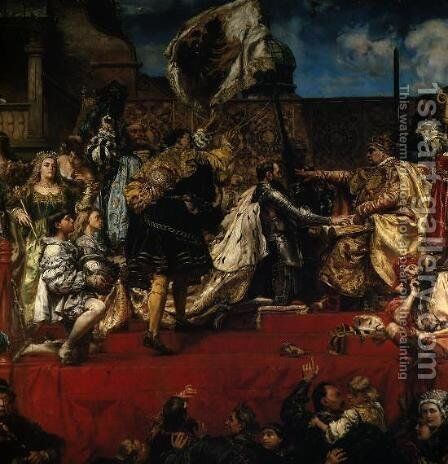 Prussian Tribute by Jan Matejko - Reproduction Oil Painting