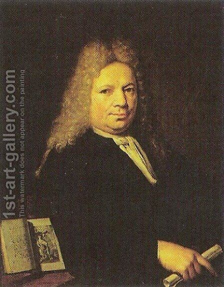 Portrait of Daniel Willnick by Christoffel Lubieniecki - Reproduction Oil Painting