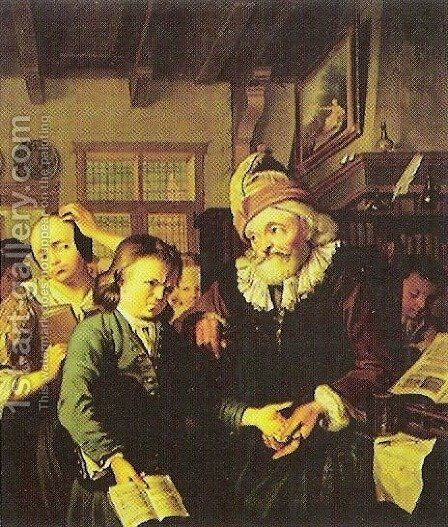 Teacher by Christoffel Lubieniecki - Reproduction Oil Painting