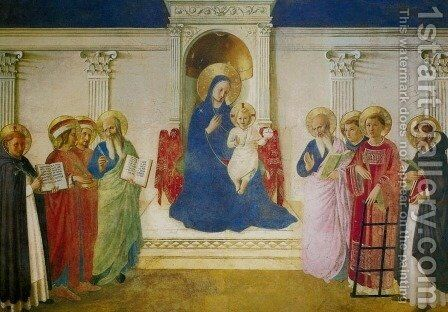 Sacra Conversazione (Madonna of the Shadows, Madonna delle Ombre) by Angelico Fra - Reproduction Oil Painting