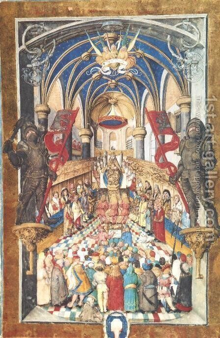 Enthronement of a Polish King by - Unknown Painter - Reproduction Oil Painting