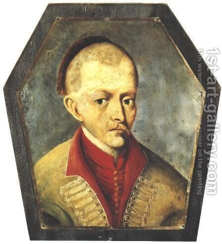 Coffin Portrait of Nobleman from the Region of Gostyn by - Unknown Painter - Reproduction Oil Painting