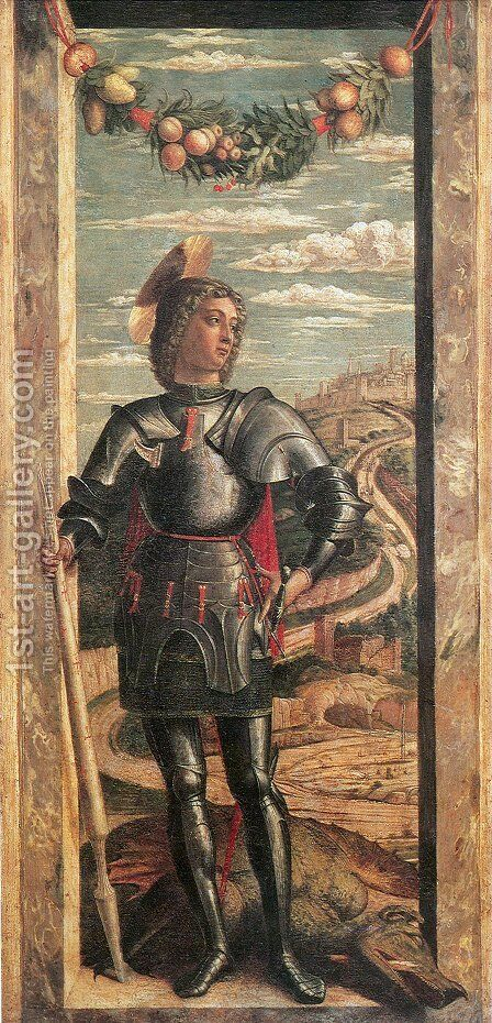 St. George (San Giorgio) by Andrea Mantegna - Reproduction Oil Painting