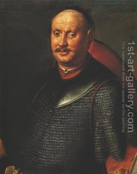 Portrait of Weglinski, Sub-Treasurer of Chelm by - Unknown Painter - Reproduction Oil Painting