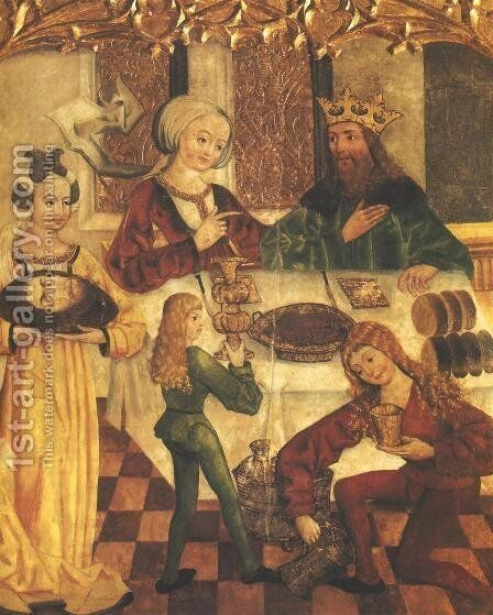 Herod's Feast by - Unknown Painter - Reproduction Oil Painting