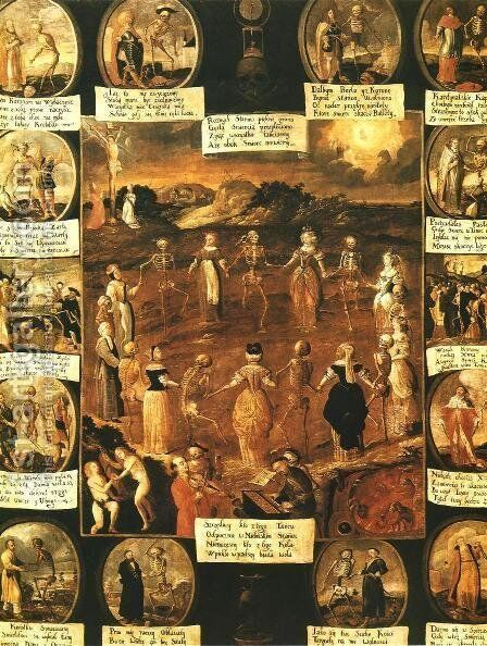 Danse Macabre by - Unknown Painter - Reproduction Oil Painting