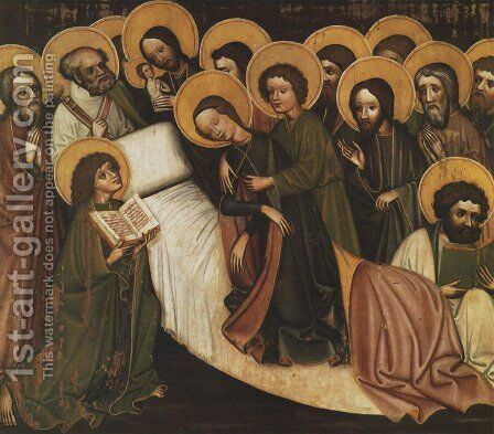 Dormition of the Virgin Mary by - Unknown Painter - Reproduction Oil Painting