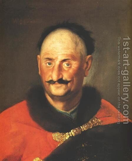 Portrait of Boreyko, Castellan of Zawichost by - Unknown Painter - Reproduction Oil Painting