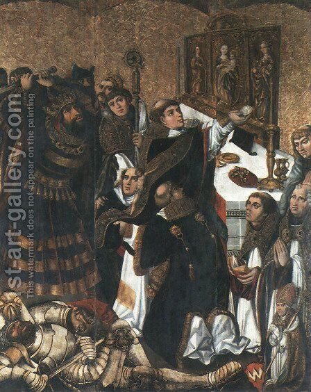 Slaying of St. Stanislaus by - Unknown Painter - Reproduction Oil Painting