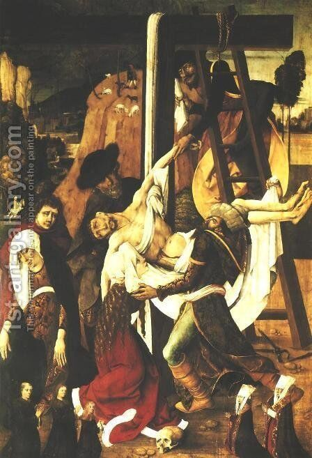 Deposition from the Cross by - Unknown Painter - Reproduction Oil Painting