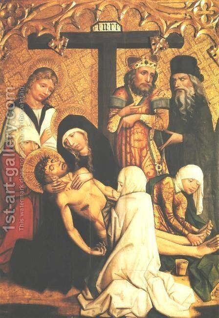 Lamentation by - Unknown Painter - Reproduction Oil Painting