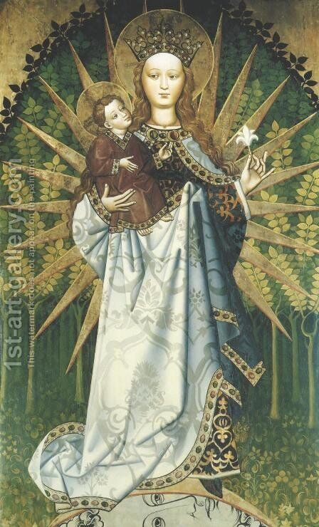 Madonna with Child Clothed in Sunlight by - Unknown Painter - Reproduction Oil Painting