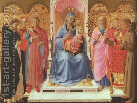 Annalena Altarpiece (Pala di Annalena) by Angelico Fra - Reproduction Oil Painting