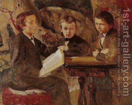 Nephews by Jacek Malczewski - Reproduction Oil Painting