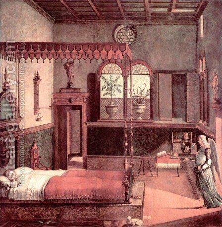 Legend of St. Ursula: The Dream of St. Ursula (Storie di sant'Orsola: Sogno di sant'Orsola) by Vittore Carpaccio - Reproduction Oil Painting