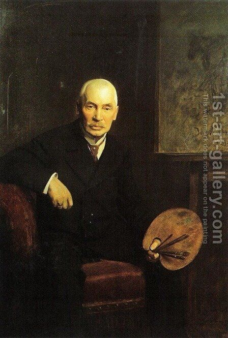 Portrait of Jozef Brandt by Boleslaw Szankowski - Reproduction Oil Painting