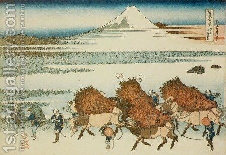 New Fields at Ono in Suruga Province (Sunshu Ono shinden) by Katsushika Hokusai - Reproduction Oil Painting
