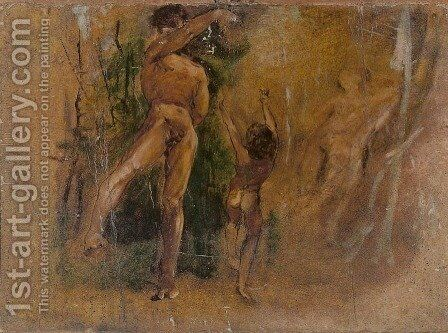 Study for The Dancing Lesson by Jacek Malczewski - Reproduction Oil Painting
