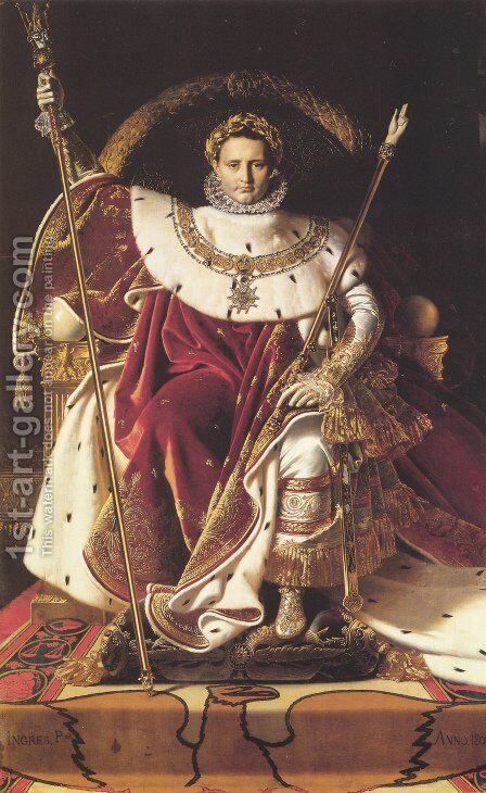 Napoleon Enthroned by Jean Auguste Dominique Ingres - Reproduction Oil Painting