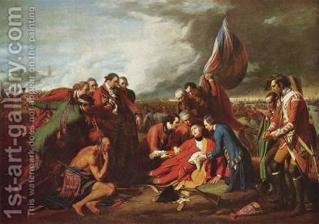 The Death of General Wolfe 1770 by Benjamin West - Reproduction Oil Painting