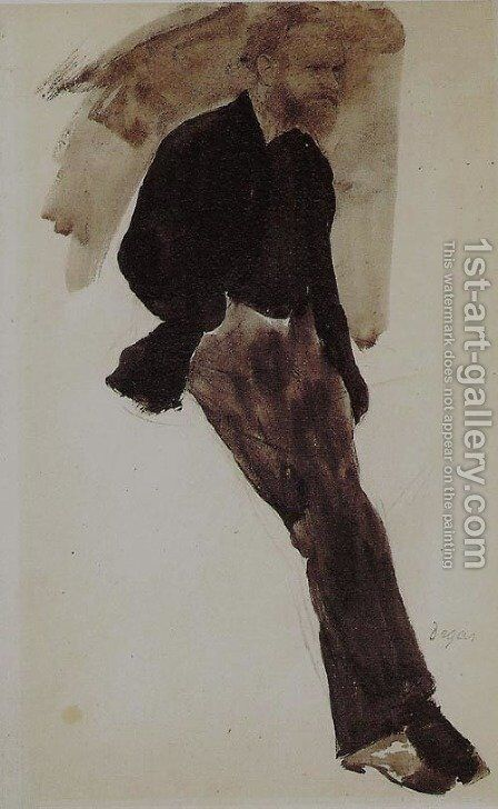 Portrait of Manet by Edgar Degas - Reproduction Oil Painting
