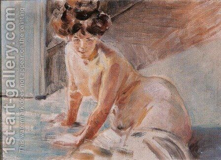 Study of a Female Nude by Jacek Malczewski - Reproduction Oil Painting
