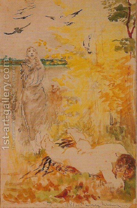 Coming of Winter by Jacek Malczewski - Reproduction Oil Painting