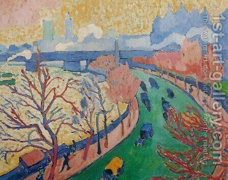 Charing Cross Bridge by Andre Derain - Reproduction Oil Painting