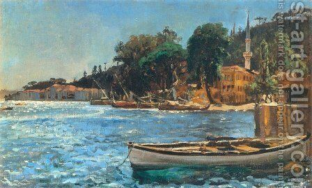 View of Bebek near Constantinople by Jan Matejko - Reproduction Oil Painting