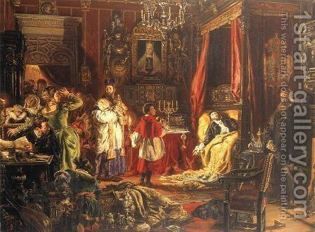 Death of Sigismund Augustus in Knyszyn by Jan Matejko - Reproduction Oil Painting